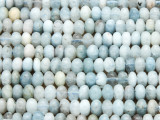 Aquamarine Saucer Gemstone Beads 6mm (GS4238)