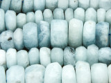 Aquamarine Graduated Irregular Faceted Rondelle Gemstone Beads 8-18mm (GS4239)
