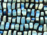 Green Blue Electroplated Hematite Nugget Gemstone Beads 8-12mm (GS4240)