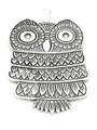 Owl - Pewter Pendant 80mm (PW890)