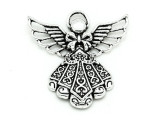 Ornate Angel - Pewter Pendant 43mm (PW893)