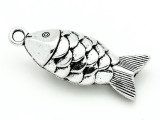 Koi Fish - Pewter Pendant 44mm (PW902)
