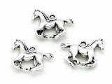 Galloping Horse - Pewter Pendant 18mm (PW1176)