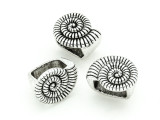Pewter Bead - Nautilus Shell 15mm (PB802)