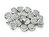 Pewter Bead - Spiral 6mm (PB822)