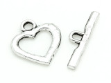 Pewter Heart Toggle Clasp 32mm (PB832)
