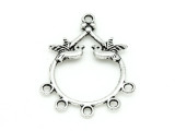 5-Strand Bird Connector - Pewter Pendant 35mm (PB844)