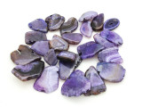 Purple Agate Slab Gemstone Beads 21-48mm (AS949)