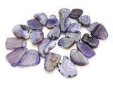 Purple Agate Slab Gemstone Beads 28-40mm (AS951)