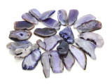Purple Agate Slab Gemstone Beads 42-64mm (AS954)