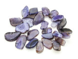 Purple Agate Slab Gemstone Beads 33-50mm (AS955)