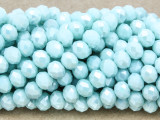 Ice Blue Crystal Glass Beads 7mm (CRY256)