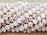Pink & Champagne Crystal Glass Beads 8mm (CRY257)