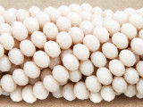 Pale Peach Crystal Glass Beads 8mm (CRY260)