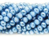 Sky Blue Crystal Glass Beads 7mm (CRY261)