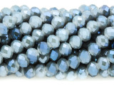 Denim Blue Crystal Glass Beads 8mm (CRY264)