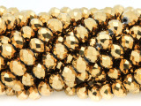 Gold Crystal Glass Beads 8mm (CRY267)