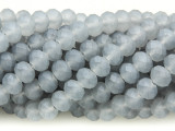 Matte Gray Crystal Glass Beads 8mm (CRY270)
