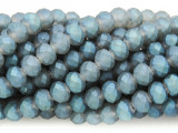 Matte Slate Blue Crystal Glass Beads 8mm (CRY271)