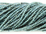 Dark Turquoise Crystal Glass Beads 2mm (CRY283)