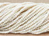 Ivory Crystal Glass Beads 2mm (CRY284)