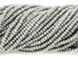 Gray Crystal Glass Beads 2mm (CRY285)