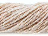 Beige & Tan Crystal Glass Beads 2mm (CRY286)