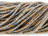 Matte Gray & Copper Crystal Glass Beads 2mm (CRY290)