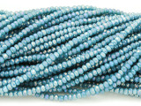 Turquoise Blue Crystal Glass Beads 2mm (CRY292)