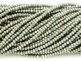 Metallic Sage Green Crystal Glass Beads 2mm (CRY295)