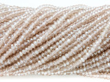Pale Pink Crystal Glass Beads 2mm (CRY299)