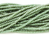 Moss Green Crystal Glass Beads 2mm (CRY302)