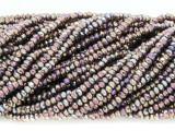 Purple Jeweltone Crystal Glass Beads 2mm (CRY303)