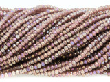 Mauve Crystal Glass Beads 2mm (CRY304)