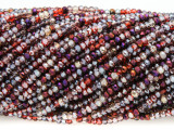 Purple & Red Crystal Glass Beads 2mm (CRY316)