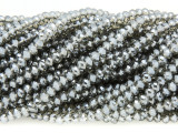 Smoky Gray Crystal Glass Beads 4mm (CRY324)