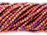 Red & Fuchsia Crystal Glass Beads 4mm (CRY333)