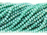 Teal Green Crystal Glass Beads 4mm (CRY345)
