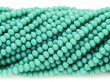 Teal Green Crystal Glass Beads 4mm (CRY347)