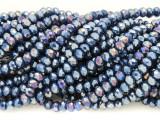Dark Blue Crystal Glass Beads 4mm (CRY350)