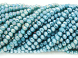 Aqua Blue Crystal Glass Beads 4mm (CRY353)
