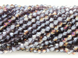 Lavender Crystal Glass Beads 4mm (CRY357)