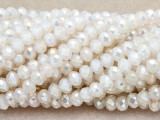 Ivory Crystal Glass Beads 6mm (CRY371)