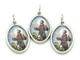 St. Francis Picture Pendant - 22mm (SF10)
