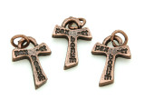 Copper Pax Et Bonum Cross Pendant - 20mm (SF18)