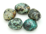 "African ""Turquoise"" Oval Nugget Gemstone Beads 23-37mm (GS4314)"