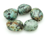 "African ""Turquoise"" Oval Nugget Gemstone Beads 23-28mm (GS4316)"