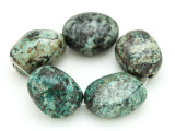 "African ""Turquoise"" Oval Nugget Gemstone Beads 24-27mm (GS4317)"