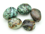"African ""Turquoise"" Oval Nugget Gemstone Beads 22-27mm (GS4319)"