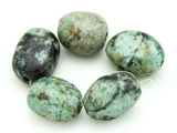 "African ""Turquoise"" Oval Nugget Gemstone Beads 17-21mm (GS4320)"